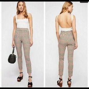 Free People Ella Plaid Pant Size 28